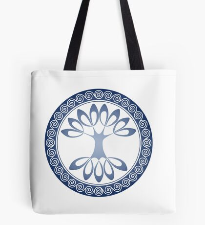 Tree of Life - water blue Tote Bag
