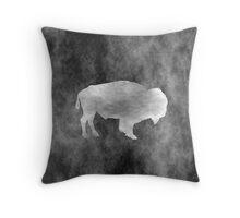 Grunge Bison Throw Pillow