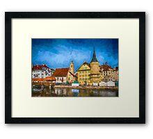 Swiss Town Framed Print