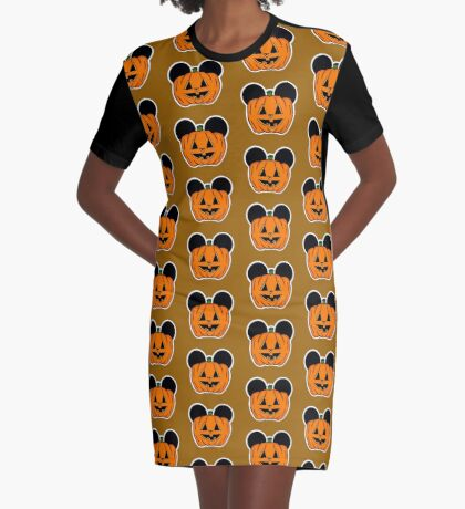 Halloween Ears Graphic T-Shirt Dress