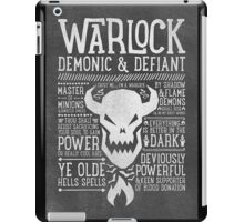 Warlock iPad Case/Skin