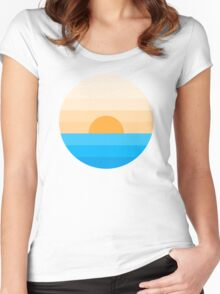 Sun goes down Women's Fitted Scoop T-Shirt
