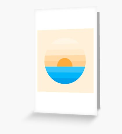 Sun goes down Greeting Card