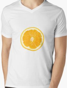 Orange Mens V-Neck T-Shirt