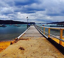 The Pier At Pittwater Palm Beach NSW by Ronald Rockman