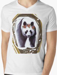 Giant panda Mens V-Neck T-Shirt