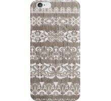 Lace on Wood iPhone Case/Skin