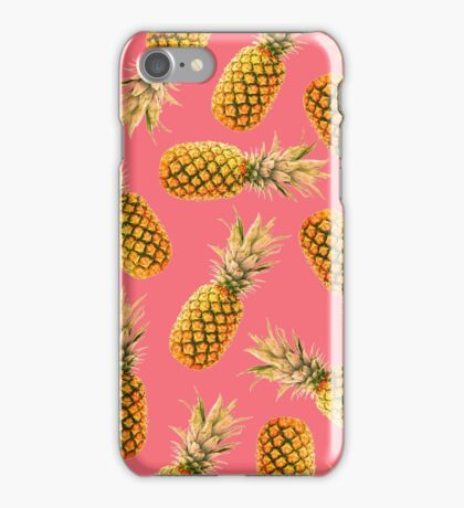 Pink Tropical Pineapple iPhone Case/Skin