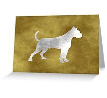 Grunge Boxer Greeting Card