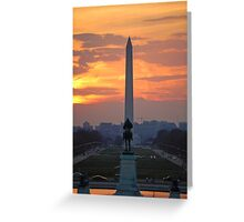 D.C. City Sunset Greeting Card