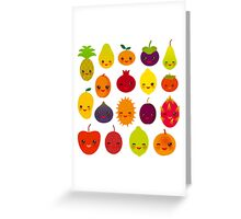 Happy Fruits Greeting Card