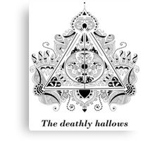 The Deathly Hallows Design Canvas Print