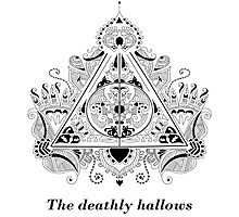 The Deathly Hallows Design Photographic Print