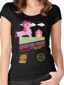 little pony 8 bit Women's Fitted Scoop T-Shirt