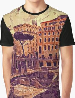 Campus Martius Julius Caesar Ancient Rome Italy Architecture Graphic T-Shirt