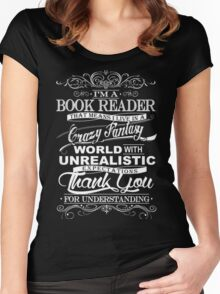 I'M A BOOK READER  Women's Fitted Scoop T-Shirt