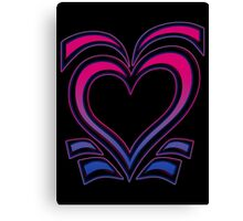 Bi Heart Canvas Print