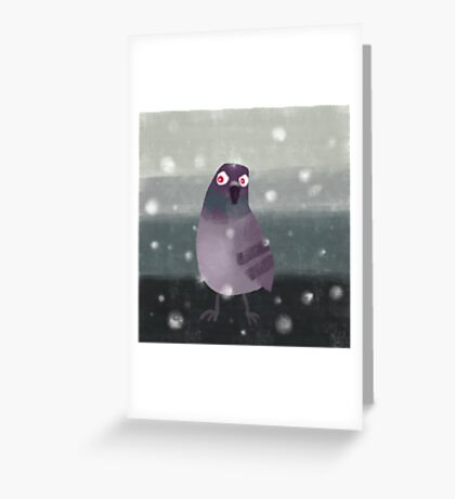 Angry Pigeon Greeting Card