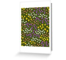 Green Field of Flowers Greeting Card