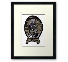 The Gentleman Thief Portrait Framed Print