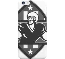 American Football QB Player Throw Ball Grayscale iPhone Case/Skin