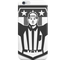 American Football Official Referee Grayscale iPhone Case/Skin