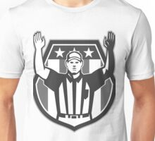 American Football Official Referee Grayscale Unisex T-Shirt