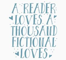 a reader loves a thousand fictional loves Baby Tee