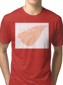 Peach Paint Tri-blend T-Shirt