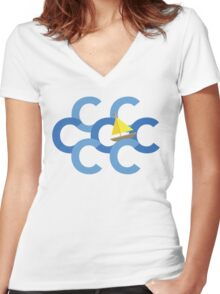 Sail The Seven Cs Women's Fitted V-Neck T-Shirt