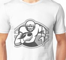 American Football Player Running Back Grayscale Unisex T-Shirt
