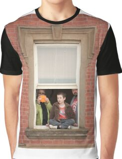 0681 Watching from the Window Graphic T-Shirt