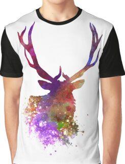 Elk 03 in watercolor Graphic T-Shirt