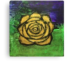 The Rose (yellow) Canvas Print