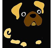 Funny Funky Pug Dog Art Photographic Print