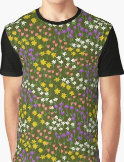 Green Field of Flowers Graphic T-Shirt