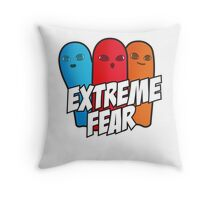 Extreme Fear Throw Pillow