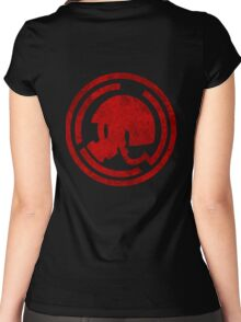 Danganronpa- Naegi Gas Mask symbol Women's Fitted Scoop T-Shirt