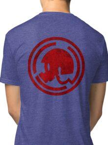 Danganronpa- Naegi Gas Mask symbol Tri-blend T-Shirt