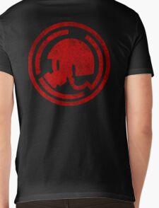 Danganronpa- Naegi Gas Mask symbol Mens V-Neck T-Shirt