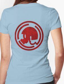 Danganronpa- Naegi Gas Mask symbol Womens Fitted T-Shirt