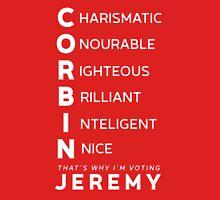 Jeremy FOR lEADER whITE Unisex T-Shirt