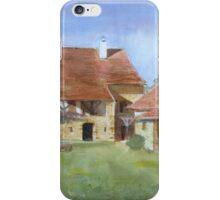 Burgundian Farmhouse by Mary Faux Jackson iPhone Case/Skin