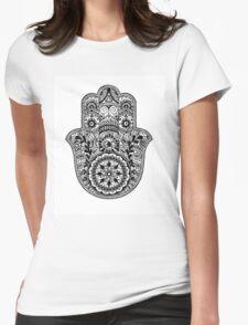 Intricate Hamsa Hand Womens Fitted T-Shirt