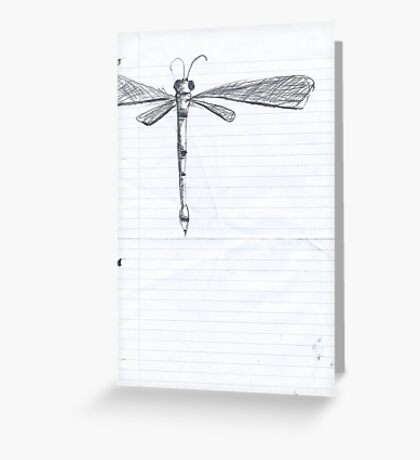 Dragonfly Sketch. Greeting Card