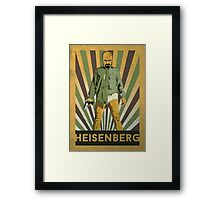 Heisenberg Retro poster Framed Print