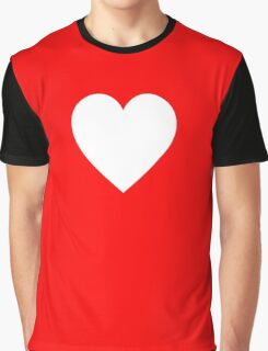 White Heart, Love Heart, Pure & Simple, on BLACK Graphic T-Shirt