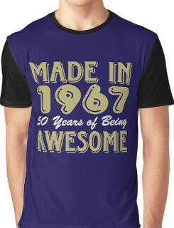 Made in 1967 50 years of being awesome Graphic T-Shirt