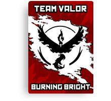 Team Valor Pokemon GO Canvas Print
