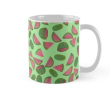 Whole Watermelons Wedged and Sliced Pattern on Mint Green Mug